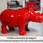 Figur eines roten Nashorn